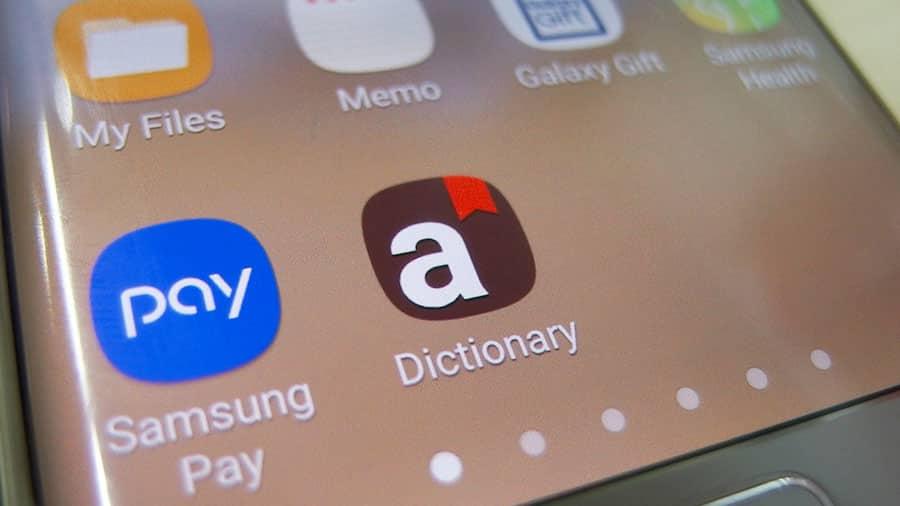 วิธีนำแอป Samsung Dictionary ในเครื่องออกมาโดยไม่ต้องลง Launcher เพิ่ม