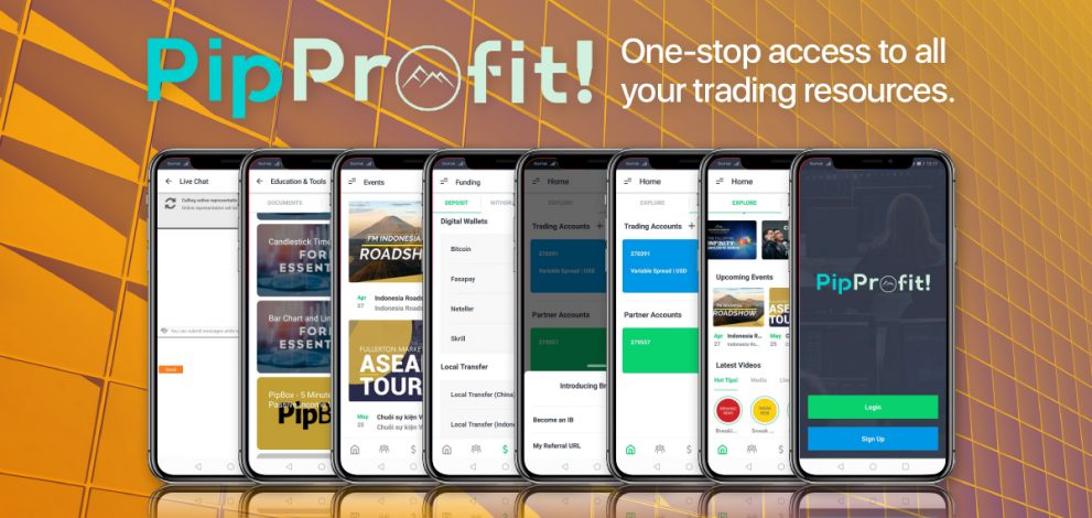 PipProfit แอพของบริษัทนายหน้าซื้อขายหลักทรัพย์