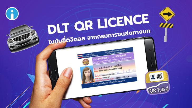 """แอปพลิเคชัน """"DLT QR Licence"""" ใบขับขี่ออนไลน์"""
