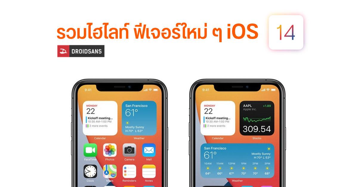 iOS14 รวมฟีเจอร์ใหม่ๆที่น่าสนใจ